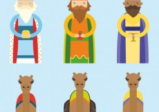 Free vector The three wise men an the camels #29205