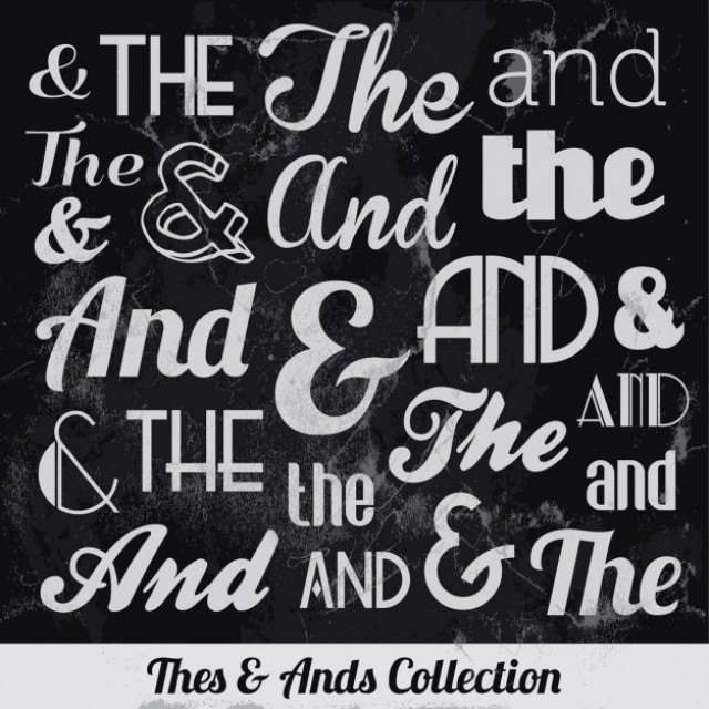 Free vector Thes & ands collection #32528