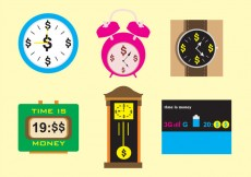 Free vector Time is Money Watches & Clocks #28855