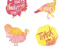 Free vector turkey thanksgiving greeting #28962