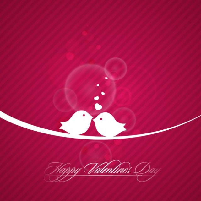 Free vector valentine day birds card #32758