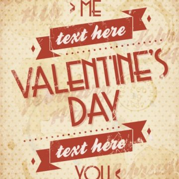 Free vector Valentines card in grunge style #32582