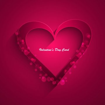 Free vector Valentines day magenta card #32844