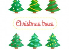 Free vector Variety of christmas trees #32518