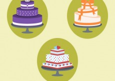 Free vector Variety of delicious cakes #33372