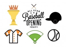 Free vector Baseball Opening Day #32107
