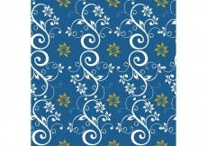Free vector Blue Seamless Floral Background #29961
