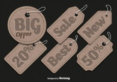 Free vector Cardboard sale tags #29362