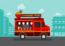 Free vector Vector  Chinesefood Truck #29595
