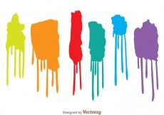 Free vector Colorful Paint Drip Set #31043