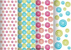 Free vector Colorful Swirl Dot Pattern #31199