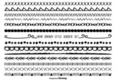 Free vector Cute Hand Drawn Style Borders #29102