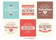 Free vector Cute Mini Valentines Day Cards #34091