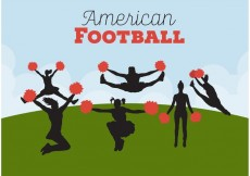 Free vector Football Cheerleading Backgrounds #33826