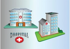 Free vector Hospital Building Icons #32573