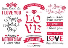 Free vector Mother's Day Labels #30478