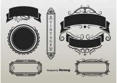 Free vector Ornament Retro Labels #33315