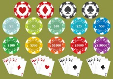 Free vector Poker Chips #31013