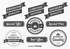 Free vector Promotional Quality Labels #32648