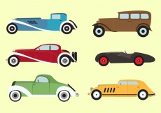 Free vector Vector Set of 1930s Vechicles #28500