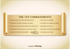 Free vector Ten Commandments on Paper Scroll #34196