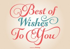 Free vector Typographic Best Wishes Illustration #31605