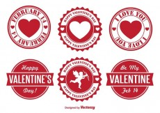 Free vector Valentine's Day Badges #30405