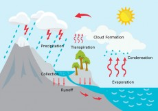 Free vector Water Cycle Illustration #29366