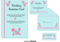Free vector Wedding Invitation Cards #33133
