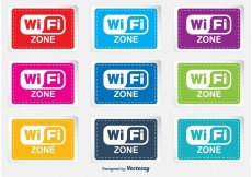 Free vector WiFi Zone Labels #33379