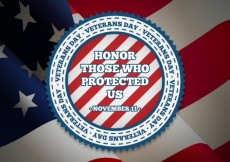 Free vector Veterans day badge #33406
