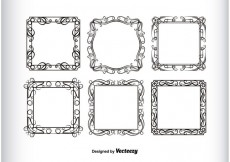 Free vector Vintage Frames Silhouettes #32845