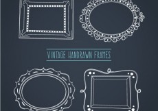 Free vector Vintage Hand Drawn Frames Collection #30440