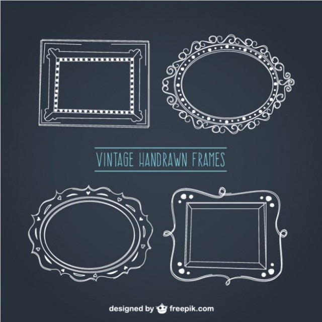 Free vector Vintage hand drawn frames #30446
