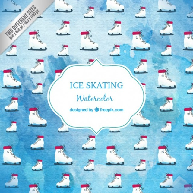 Free vector Watercolor ice skating background #31701