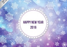 Free vector  watercolor new year background in purple an blue tones #29726