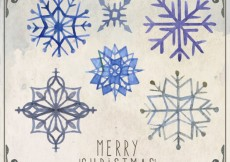 Free vector Watercolor snowflakes collection #28875