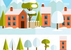 Free vector winter town #28531