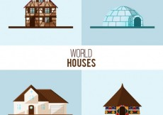 Free vector World houses collection #32380