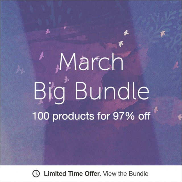Creative Market Bundle: $1514 products at $39