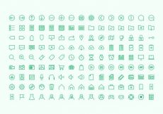 Free vector 135 Hard One Icons #3485