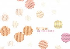 Free vector Abstract colorful halftone background #1478