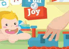 Free vector Background of happy child looking at a toy train #3246