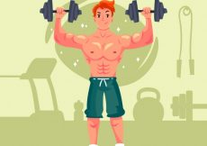 Free vector Background of man doing crossfit #280
