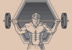 Free vector Background with man illustration #2263