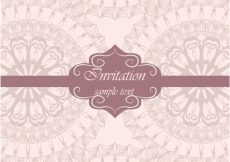 Free vector Beautiful wedding invitation template #1985