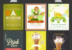 Free vector  Beer Party templates, banners or flyers collection #610