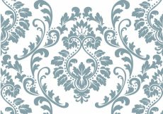 Free vector Blue and white ornamental pattern background #1715