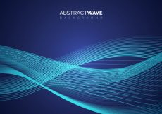Free vector Blue background with wavy forms #108
