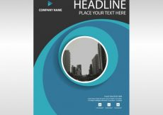 Free vector Blue modern annual report template #3228